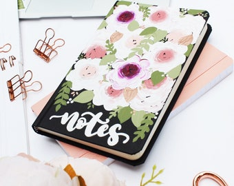 Floral Notebook, Cute Notebook, Floral Journal, Bullet Journal, Back to School Notebook, Gift for Her, Journal