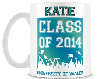 Personalised Graduation mug - Class of 2014. Perfect gift for a graduate.