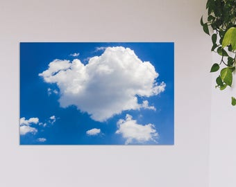 Digital Download Photography   Clouds in Blue Sky  