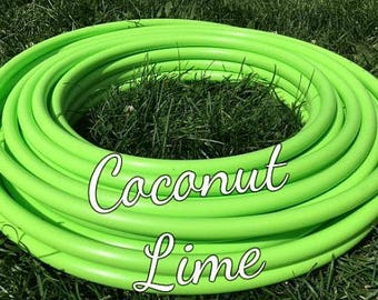 "Coconut Lime Roll of 3/4"" or 5/8"" Colored PolyPro hula hoop tubing - Make your own hoops!  50 ft or 100 ft"