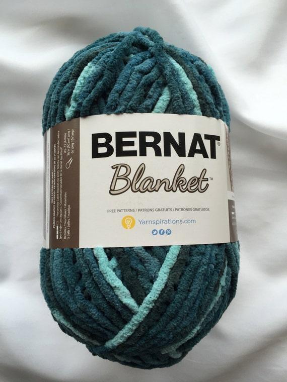 Teal Dreams 10736 Bernat Blanket Yarn 10 5 Oz Skein 220