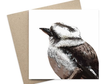 Dennis / Kookaburra Greeting Card / Digital Artwork