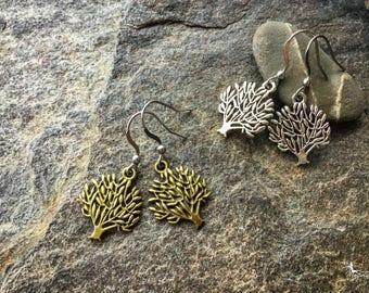Tree of life earrings boho yoga jewelry zero allergy hooks  gift under 5 dollars Bohemian jewellry by Creations Mariposa