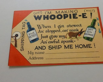 Vintage 1930s Linen Finish Comic Saucy Post Card