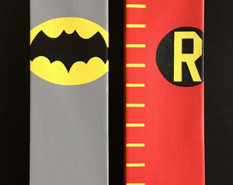 Batman 60's Series Canvas Paintings Set (2; Batman, Robin)