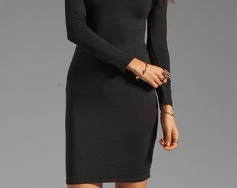 LITTLE BLACK DRESS Black Dresses Womens Dresses Off the shoulder Sexy Little Black Dress Long Sleeve Little Black Dress Sexy Black Dresses