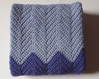 Baby Blanket, Chevron Blanket, Made to Order Crochet, Pram Blanket