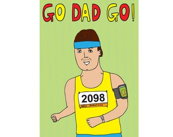 Father's Day Card - Go Dad Go!