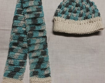 Earth Toddler Hat and Scarf set