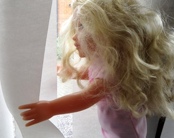 Polly Funny Dolls Looking Through The Window Fine Art Photographic Blank Greetings Card