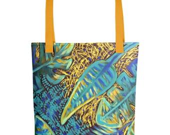 Aqua Jungle Tote bag