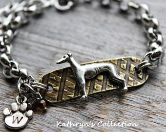 Greyhound Whippet Bracelet, Greyhound Jewelry, Whippet Jewelry, Greyhound Gift, Greyhound Mom, Whippet mom