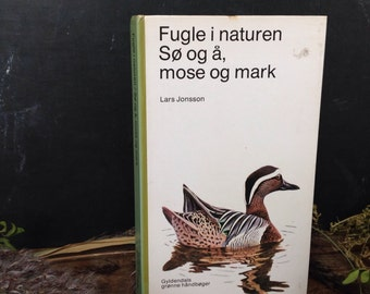 Danish vintage guide Bird book bird print