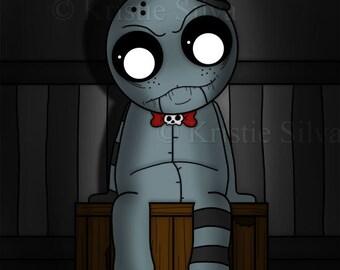 VentrilaStrange 8x10 digital art print by Kristie Silva strange ventriloquist dummy doll