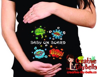 Funny maternity shirt splash boom wow 305
