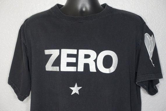 90's Smashing Pumpkins - ZERO Smashing Pumpkins Heart Logo Vintage Concert T-Shirt