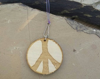 Car Essential Oil Diffuser-Wood Peace Sign