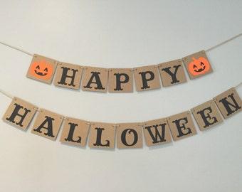 Halloween Banner, Happy Halloween, chipboard banner