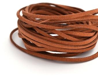 Brown Tan cord Earth Sienna suede