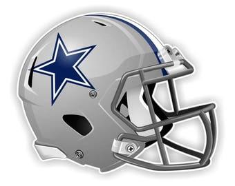 Dallas Cowboys Football Helmet  LARGE Decal / Sticker Die cut