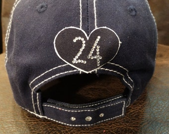 Number personalization on hat