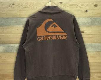 Rare! Quicksilver Zipper Sweater Jacket Size L