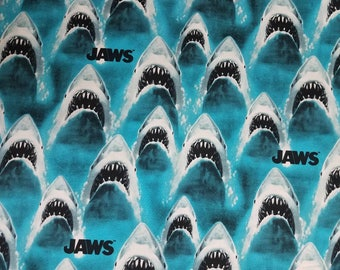 Jaws Shark Bite Teeth - Universal Studios - Fabric High Quality Cotton- By The YARD
