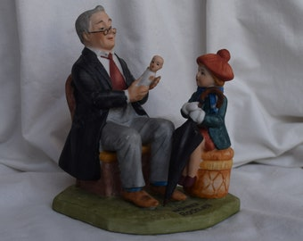 "Vintage Norman Rockwell ""Doctor and The Doll"" Porcelain Figurine, Collectables, NR Collector, Home Decor, Home Accents, Collectables"