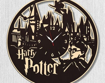 Harry Potter Wall Wood Clock, Wall clock Harry Potter, Best Gift for Decor