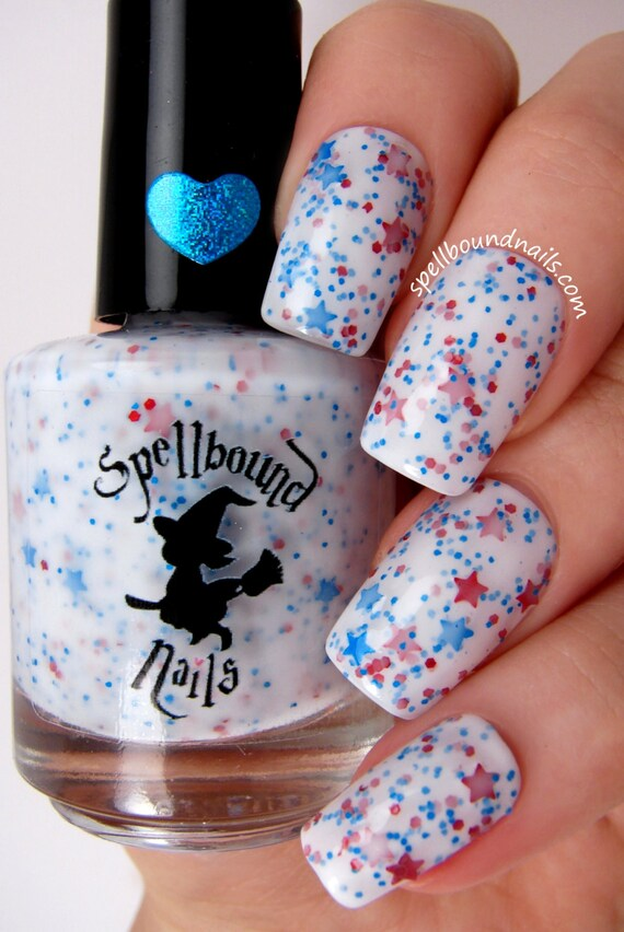 Star Spangled - White Crelly Red Blue Glitter Nail Polish from ...