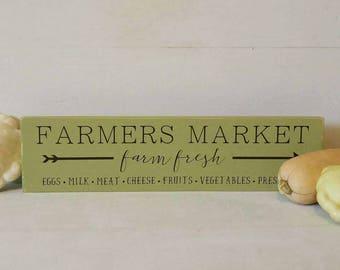 Ready to Ship, Farmers Market Sign, Farmhouse Sign, Wood Sign, Kitchen, Farmhouse Decor