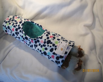 Jumbo Fleece and Cotton Tunnel with peak hole for Rabbits, Guinea Pig, Ferret or Small Animal