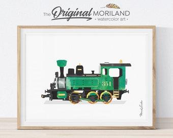 Steam Locomotive Print, Train Printable, Steam Engine Art, Transportation Nursery, Prints for Boys Room, Train Nursery Decor, Train Wall Art