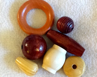 large wooden beads collection