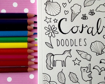 Personalised Doodle Colouring Book