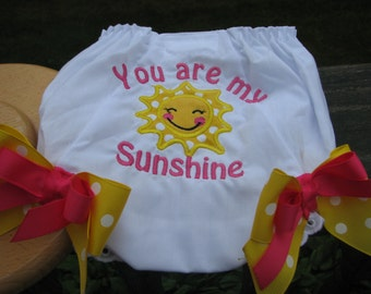 sunshine birthday bloomers, you are my sunshine birthday Bloomers, 1st birthday, smash cake bloomers, diaper cover,