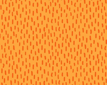 Kitten Kaboodle by Blank Quilting - Tonal Lines Orange - Cotton Woven Fabric