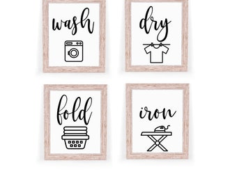 Laundry Room Decor Bundle (2) Digital Download