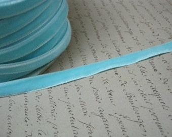 3/8inch Ice Blue Velvet Ribbon