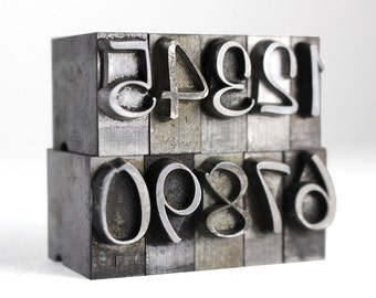 NUMBERS - 48pt Metal Letterpress (Murray Hill)