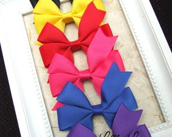 Classic Pinwheel Hair Bows, Hair Clips For Baby, BEST SELLER, Darks Hair Bow Clips, Toddler Girl, Girl Hair Clips, Teen Hair Clips