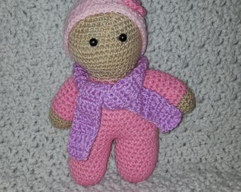 hand-made crochet plush toy doll