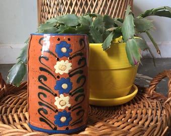 Hand Painted Flower Mug