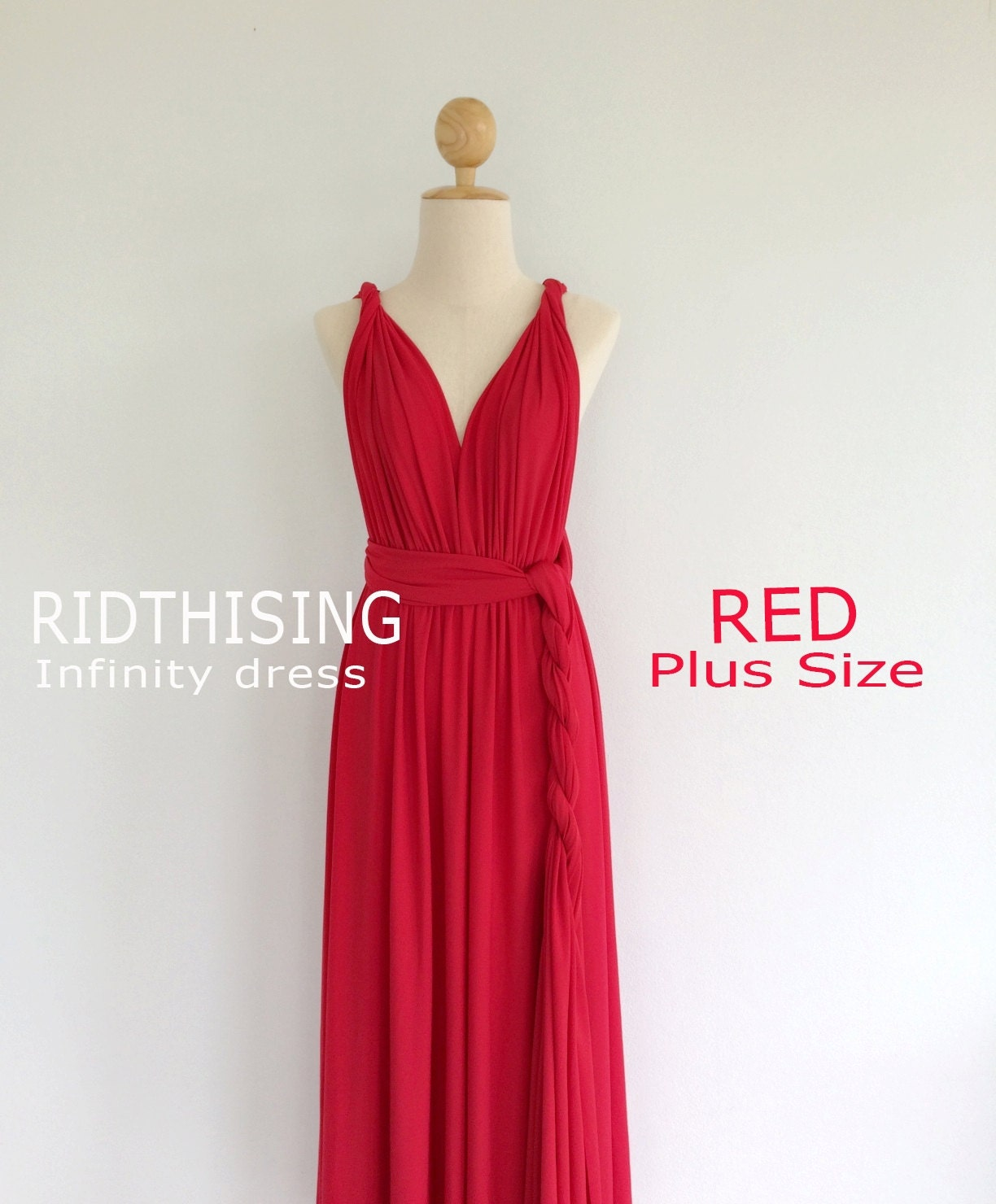 Plus Size Red Infinity Dress Bridesmaid Dress Prom Dress