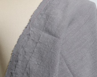 Gray Solid Linen Fabric Sold by Half Yard GZ004
