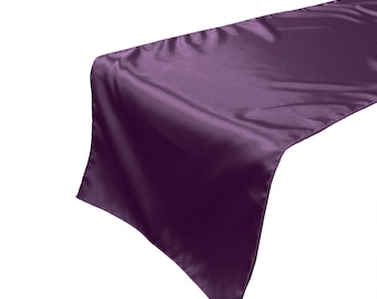 Zen Creative Designs Luxury Satin Table Top Runner (Pack Of 4) Plum