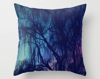 Weeping - Throw Pillow - Home Decor -  photography, custom art, nature, weeping willow tree