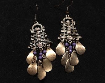 Gold Asian Inspired Earrings