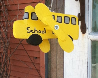 School Bus Whirligig