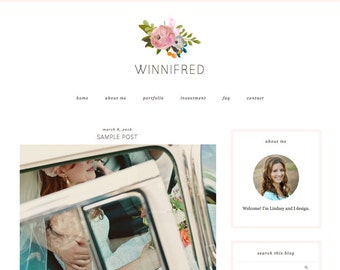 """Blogger Template, Blog Template - """"Winnifred 